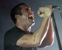 Nine Inch Nails' Trent Reznor performs at a concert in the US.